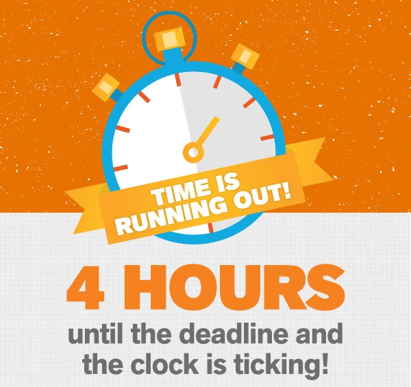 4 Hours Remaining!