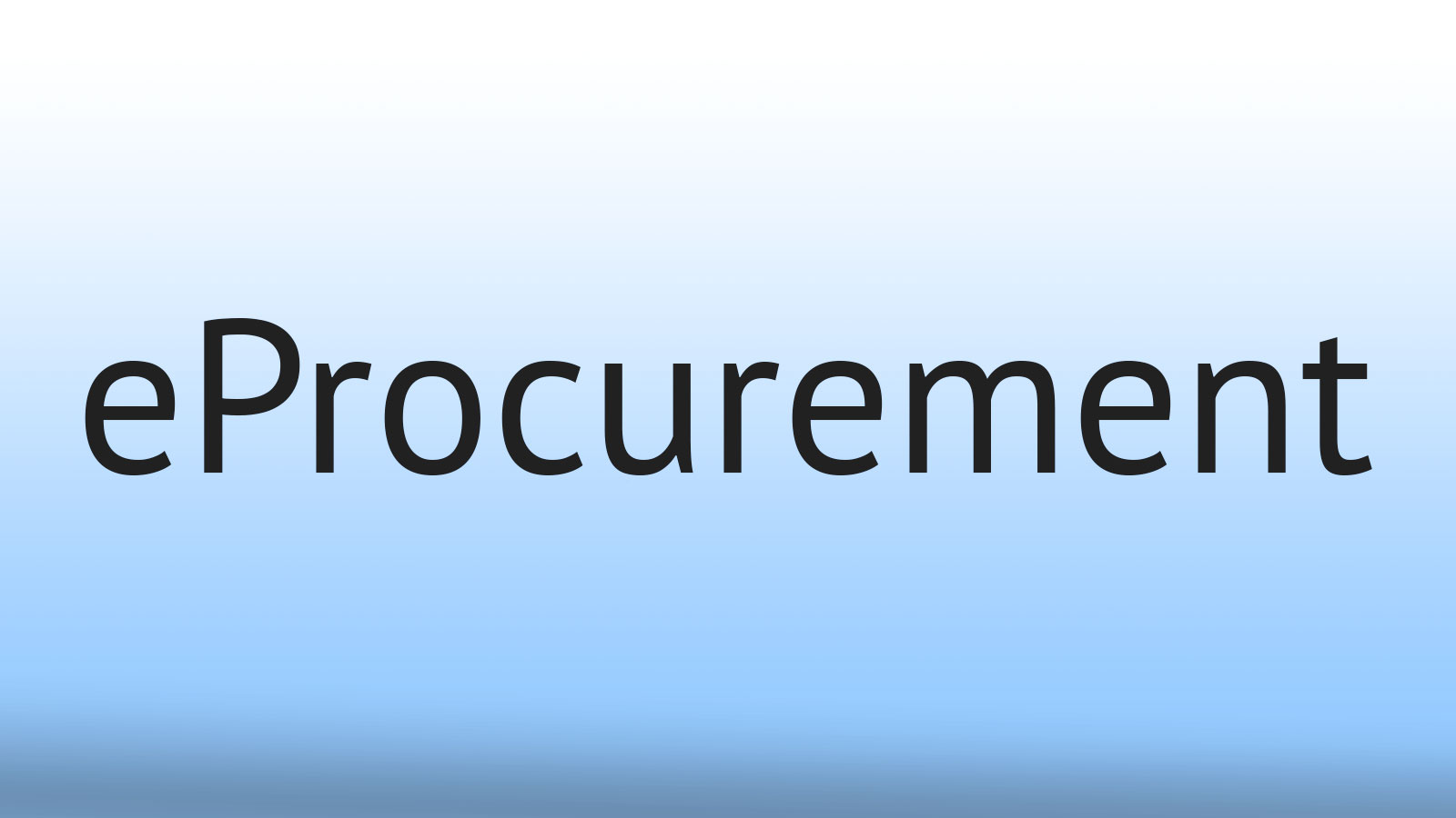 eProcurement - a Billion and Counting