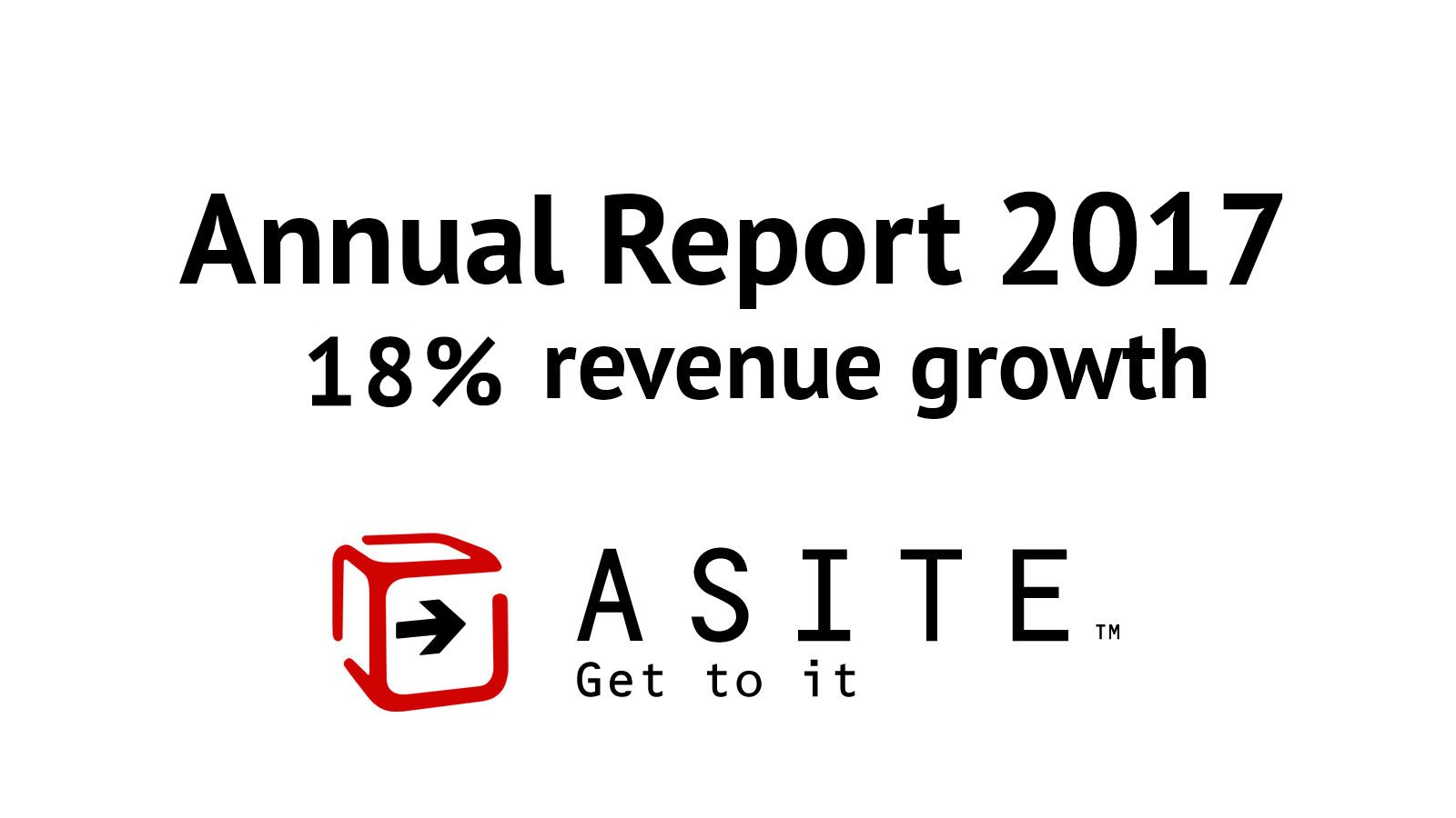 Asite announces 18% revenue growth in its 2017 Annual Report