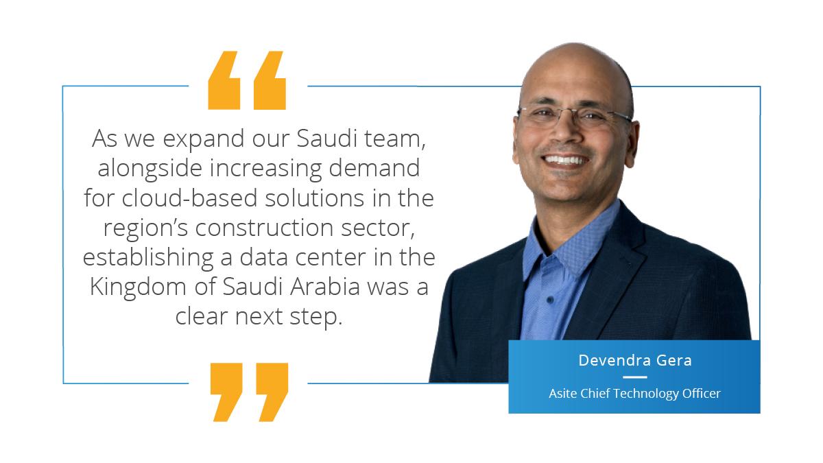 Asite Opens New Data Center in the Kingdom of Saudi Arabia