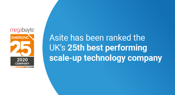 Asite Named One of the Best-Performing Scale-Up Technology Companies in the UK