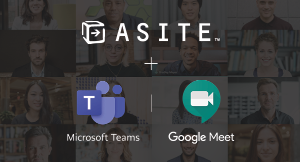 Asite integrates with Microsoft Teams and Google Meet