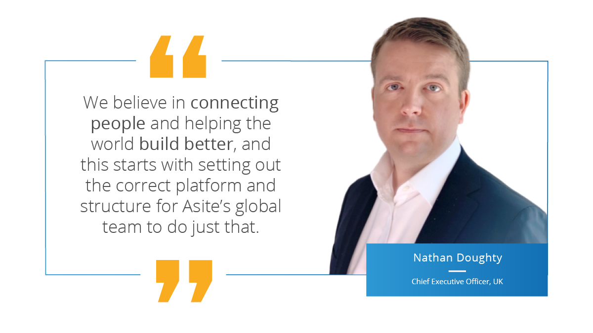Asite Announces Global Structure and Senior Management Appointments
