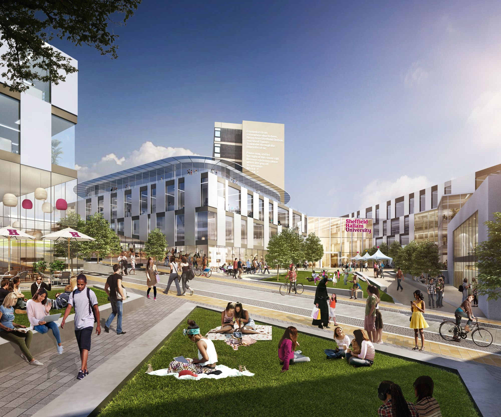 The £220 million Sheffield Hallam University Development is the first phase of a 20-year plan to transform its campus