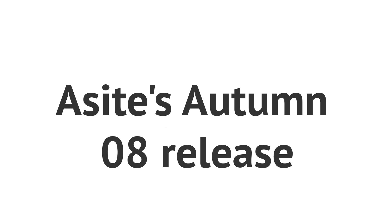 Asite's Autumn 08 release delivers eLearning and further advances in SaaS document management