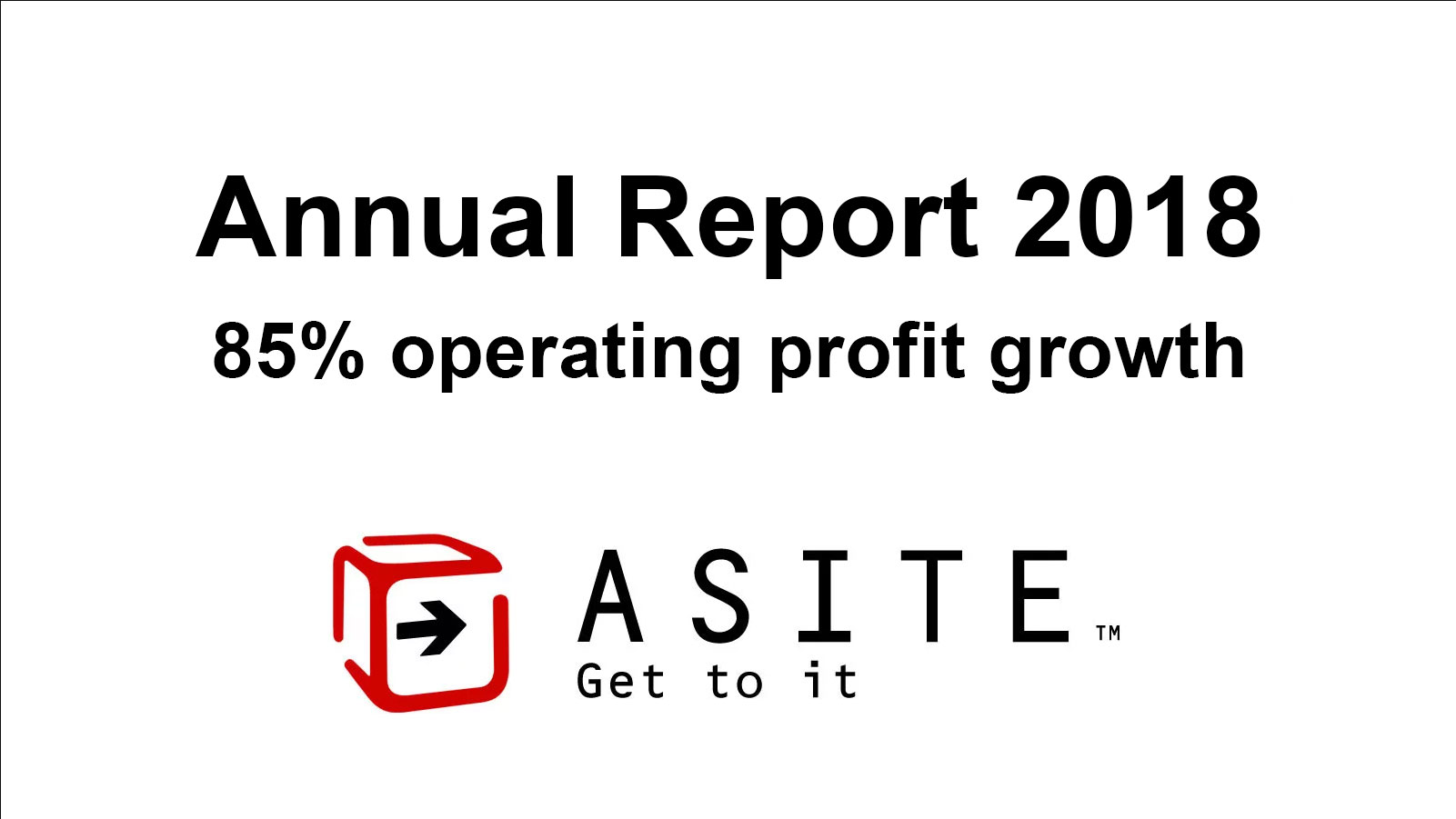 Asite announces 85% operating profit growth in its 2018 Annual Report