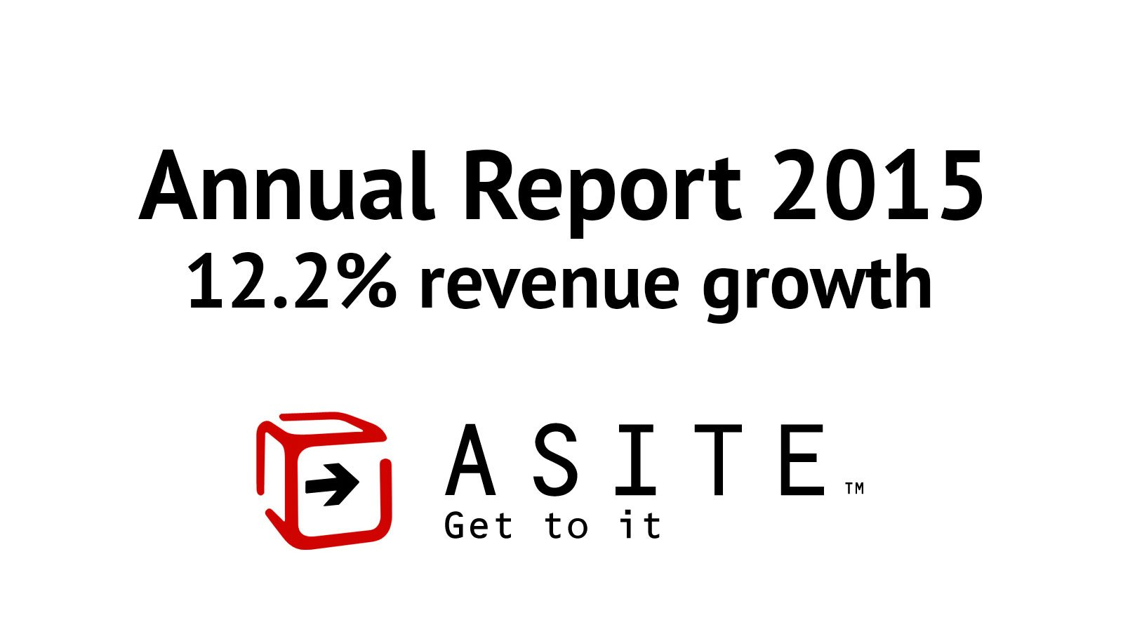 Global cloud collaboration provider Asite announces 12.2% revenue growth in its 2015 Annual Report
