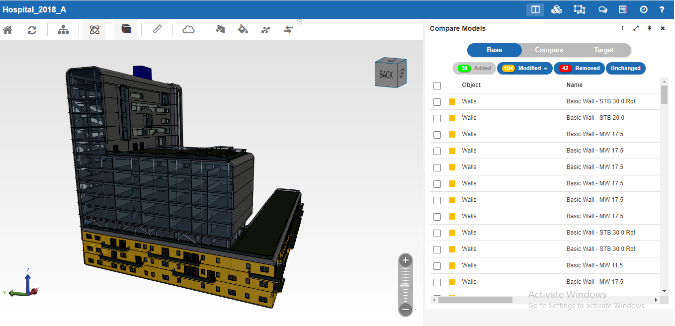 cBIM: Tracking modifications in a 3D Revit file has never been easier.